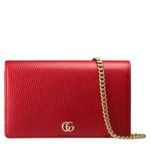 Current Gucci GG Marmont Red Clutch Purse $920